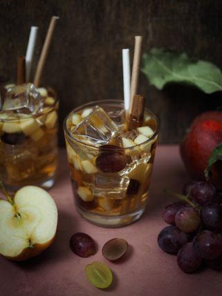 Apfel-Zimt Cocktail mit Amaretto