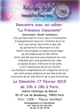 benoit-dutkiewicz-enseignements-presence-consciente-paris-fevrier-2019-aura-therapie-holistique
