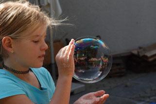 Seifenblase entsteht