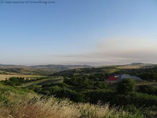 Hügelige Landschaft von Aserbaidschan