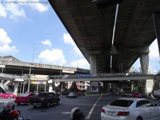 Straßenführung in Bangkok