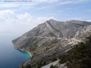 Kroatien Küstenstraße nördlich von Makarska