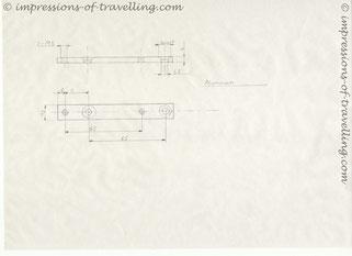 Zeichnung für die Adapterplatte