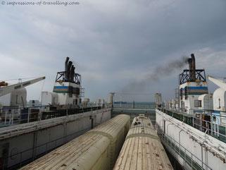 Blick in den Schiffsbauch