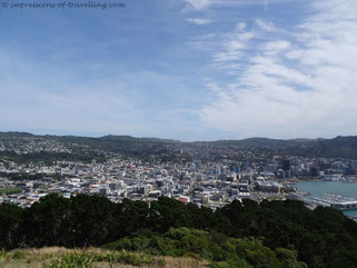 Wellington vom Mount Victoria