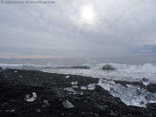 Atlantik beim Jökulsárlón