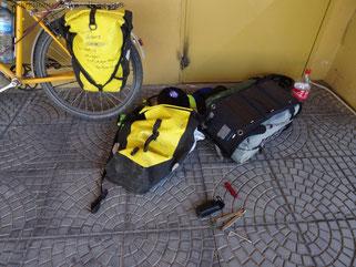 Reparatur der Ortlieb Tasche
