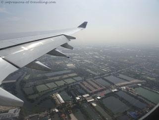 Landeanflug auf Bangkok