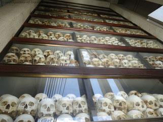 Schädel in Choeung Ek (Killing fields)
