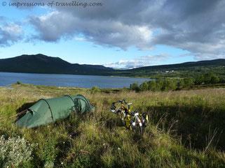 Zelt in Norwegen