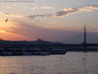 Ausblick von der Galatabrücke in Istanbul