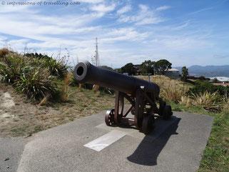 24-Pfünder auf dem Mount Victoria