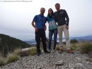 Alena, Henri und ich in den Bergen von Kotor
