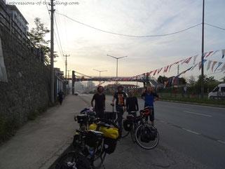 Treffen von Reisenden vor Trabzon
