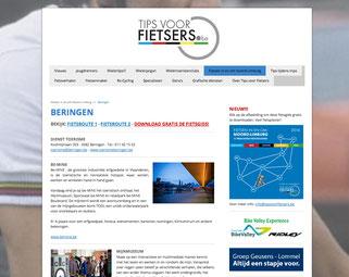 Dirk Van Bun Communicatie & Vormgeving - ontwerp - copywriting - Website Tips voor Fietsers