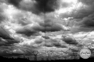 Paris, nuages, photo noir et blanc, art, street photography, CarCam