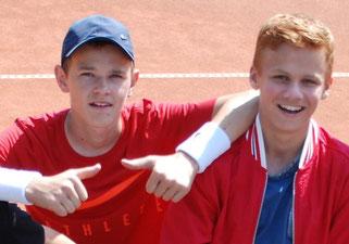 """Ferdinand """"Eddy"""" Scholz und Simon Molitor (von links)"""