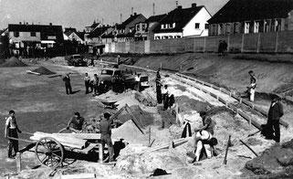 dudweiler, saarbruecken, saarland, fussball, hansastadion, jahnsportplatz, 1920, hofweg