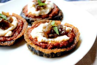 Easy Mini Eggplant Pizzas