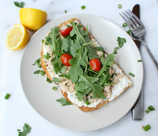 Open-Faced Garden Tuna Sandwich #ad