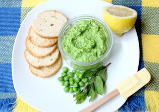 Fresh Vegan Mint-Pea Pesto