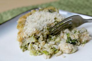 Cheesy Broccoli and Brown Rice Casserole