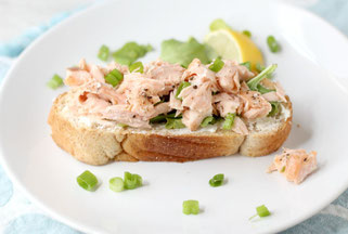 Homemade Fresh Salmon Salad Sandwich