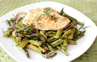 Marinated Lemon Herb Chicken and Veggies