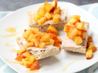 Easy Peach Crostini with Cinnamon and Honey