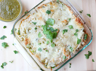 Quick Green Chicken Enchilada Casserole