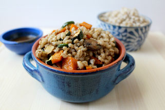 Light Barley Salad with Roasted Veggies