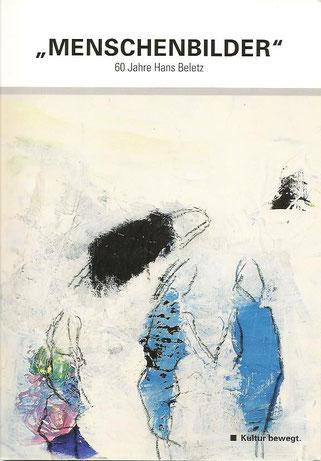 """6. März 2014. Cover der Einladung zur Ausstellungseröffnung """"Menschenbilder"""" in die [hofgalerie] des Steiermarkhofs anläßlich 60 Jahre Hans Beletz."""