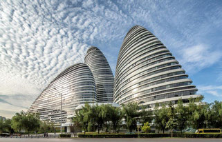 Wangjing SOHO in Peking. © Image by Jerry Yin