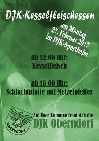 Rosenmontag: Kesselfleischessen im Sportheim