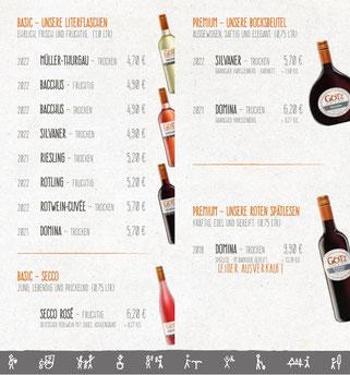 Zur Weinliste