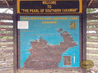 Karte vom Bako Nationalpark