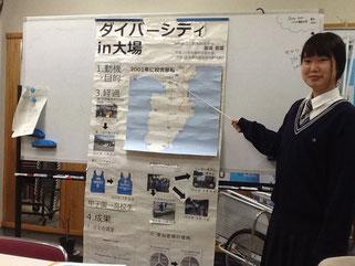 三島南高校生徒たちのプレゼンテーション