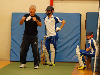 Chris Wheeler enthusing ZCCC batsmen