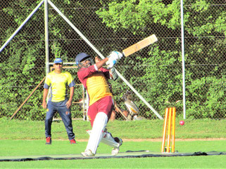 Geneva batting against Zurich Nomads in #PT20 Final