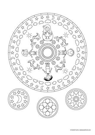 Ausmalbild: Mandala