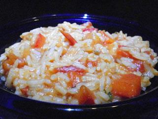 Paprika-Tomaten-Risotto