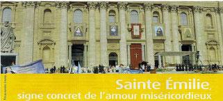 Sainte Emilie, segno concreto dell'amore misericordioso di Gesù Risorto