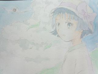 いろいろ背景とか模写して描きました。