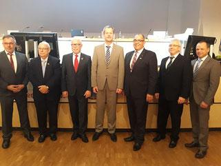 Der neue GBV:  Thomas Batzel,  Günter Lambrecht, Horst W. Bichl, Oliver Hoffmann, Hubert Vitt, Peter Herweg, Jürgen Glaub (v.l.n.r.)