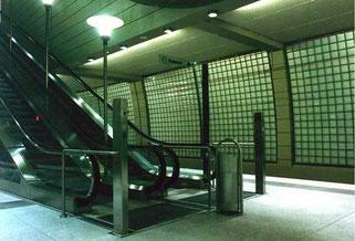 Glasbausteinwand U-Bahnhof Mülheim
