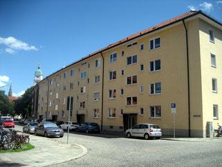Betroffene Wohnanlage in der Konradinstraße
