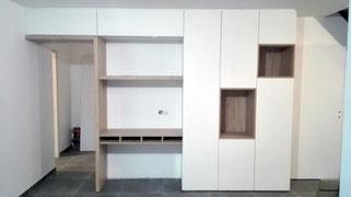 Vue d'ensemble du meuble bureau - Menuiserie Deslandes