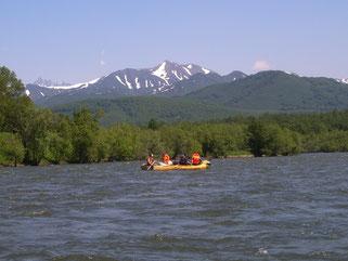 Rafting on Bystraya river