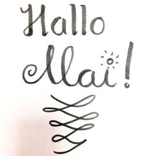 Hallo Mai - mein erstes Lettering
