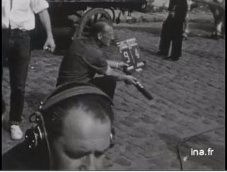 Tournage du feuilleton Perrine d'Hector Malot en 1965 à Lille